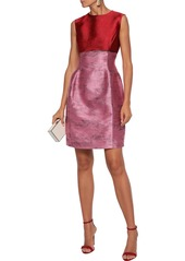 Oscar De La Renta Woman Two-tone Satin-jacquard Mini Dress Pink