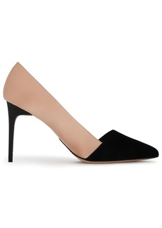 Oscar De La Renta Woman Two-tone Velvet And Satin Pumps Blush