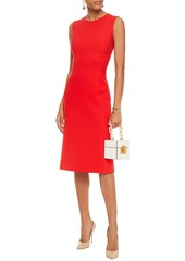 Oscar De La Renta Woman Wool-blend Cady Dress Tomato Red
