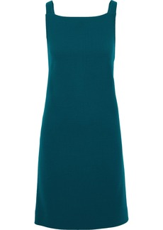Oscar De La Renta Woman Wool-blend Crepe Dress Petrol