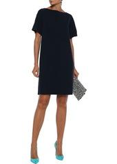 Oscar De La Renta Woman Wool-blend Crepe Mini Dress Navy