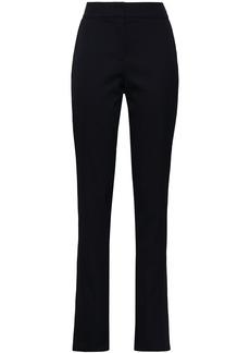 Oscar De La Renta Woman Wool-blend Slim-leg Pants Black
