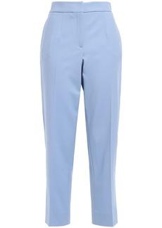 Oscar De La Renta Woman Cropped Wool-blend Twill Straight-leg Pants Light Blue