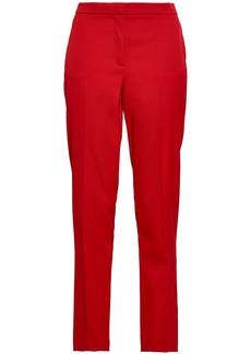 Oscar De La Renta Woman Wool-blend Twill Tapered Pants Crimson