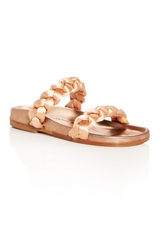 Oscar de la Renta Women's Charlee Satin Braid Slide Sandals