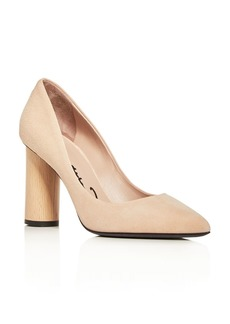 Oscar de la Renta Women's Suede Pointed Toe Pumps