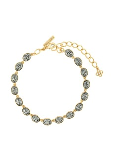 Oscar de la Renta oval-stone necklace