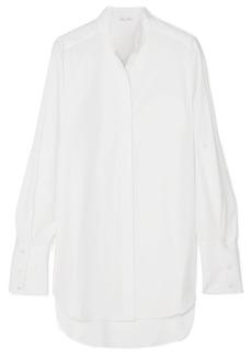 Oscar de la Renta Oversized Cotton-poplin Shirt