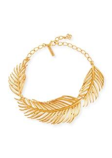 Oscar de la Renta Palm Leaf Collar Necklace