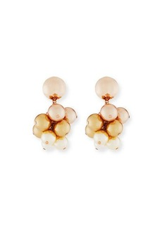 Oscar de la Renta Pearly Vine Clip-On Earrings
