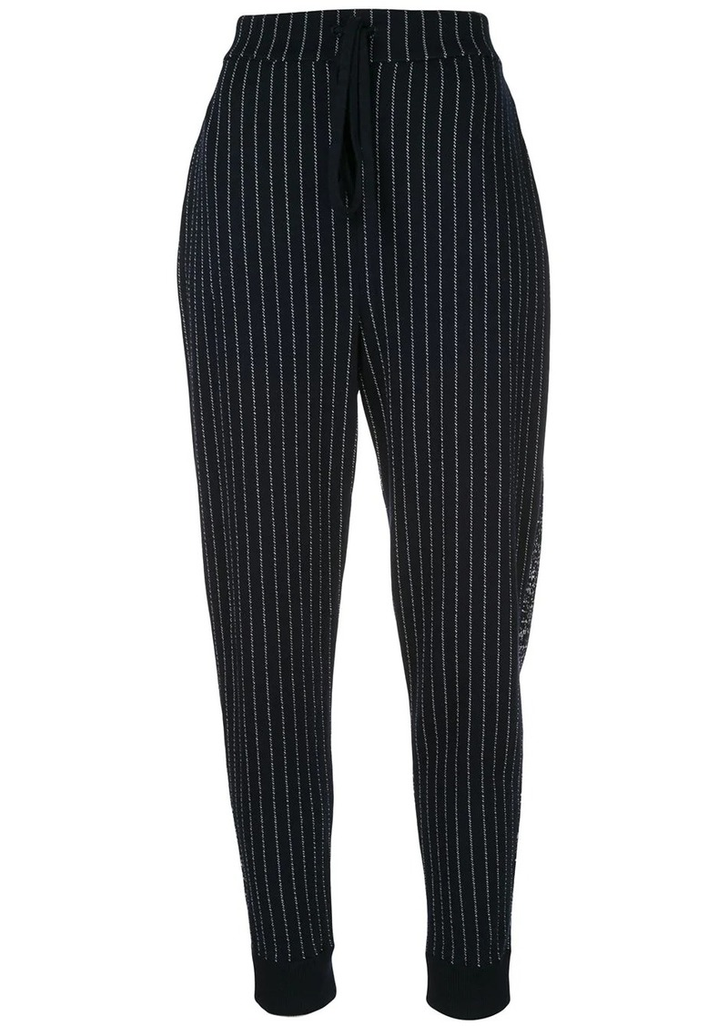 Oscar de la Renta pinstripe knit trousers