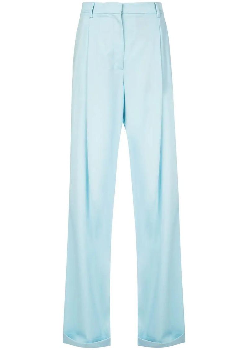 Oscar de la Renta pleated details flared trousers