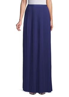 Oscar de la Renta Pleated Floor-Length Skirt