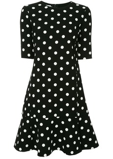 Oscar de la Renta polka dot drop waist dress
