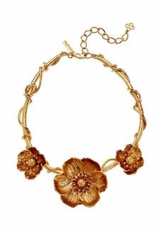 Oscar de la Renta Poppies Flower Necklace