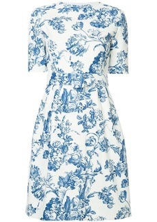 Oscar de la Renta printed belted dress