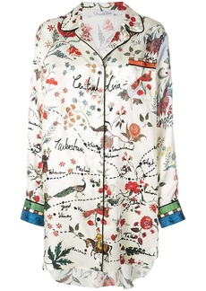 Oscar de la Renta printed shirt dress
