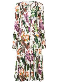 Oscar de la Renta Rainforest print dress