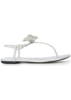 Oscar de la Renta rhinestone embellished sandals