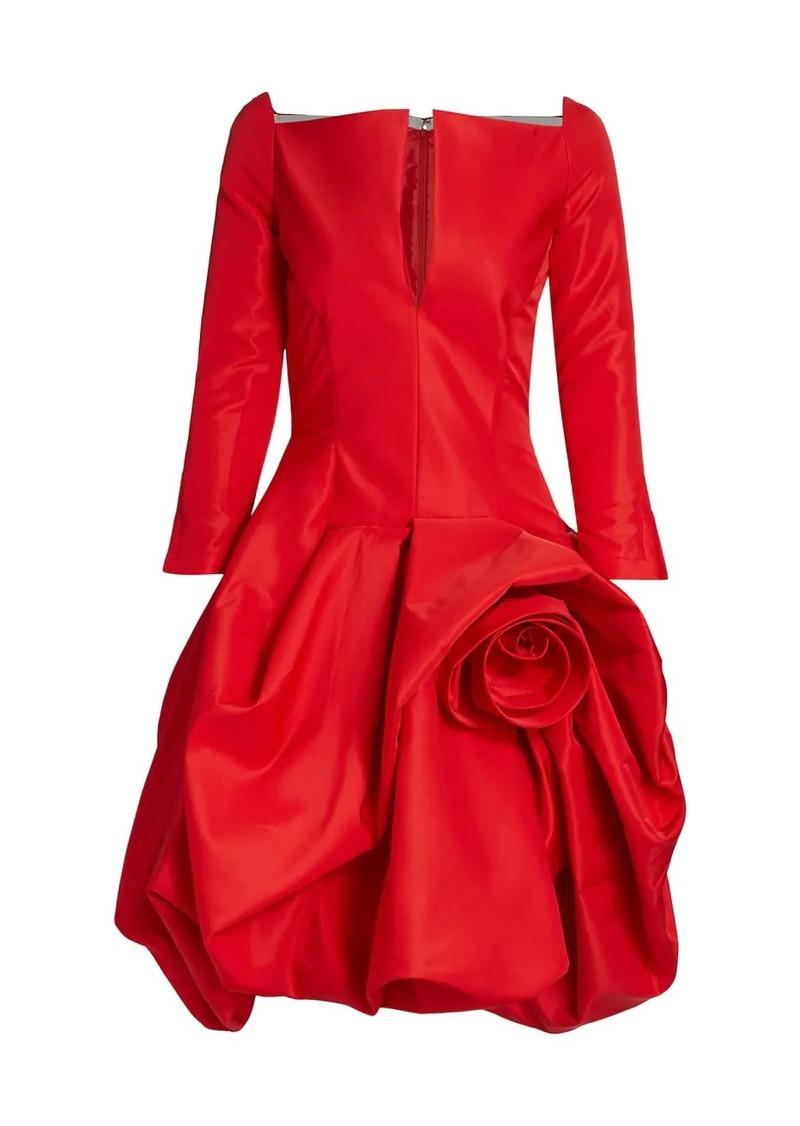 Oscar de la Renta Rosette Detail Cocktail Dress