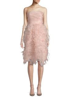Oscar de la Renta Ruched Mini Dress