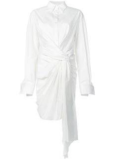 Oscar de la Renta ruched shirt dress