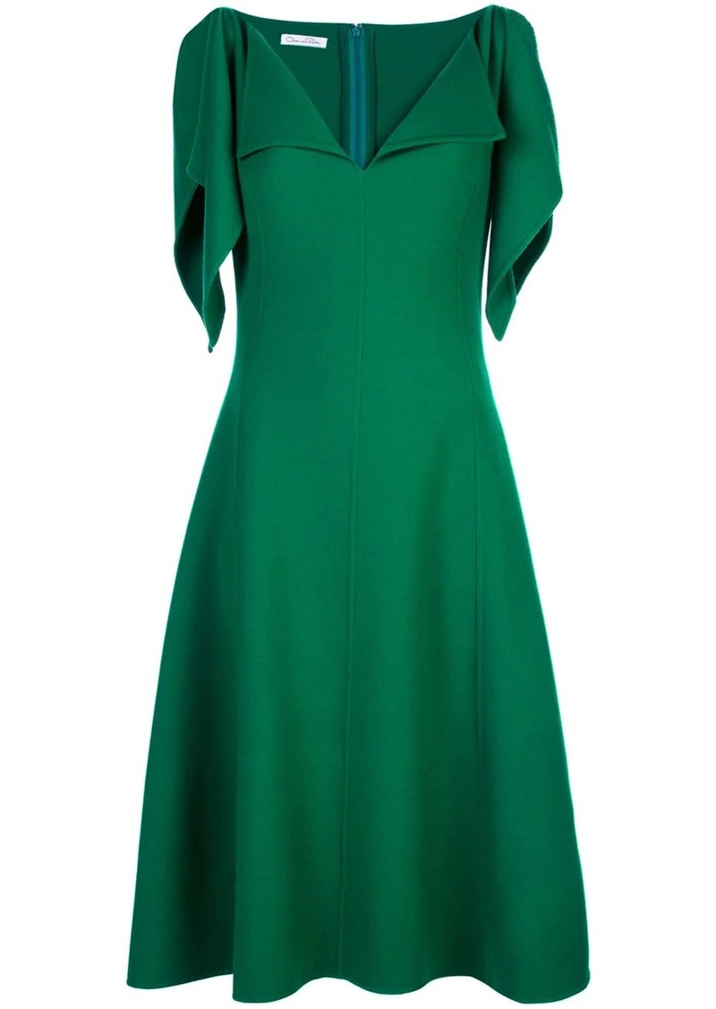 Oscar de la Renta ruffle trim midi dress