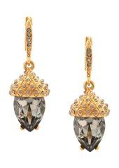 Oscar de la Renta Runway pave acorn drop earrings