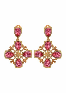 Oscar de la Renta Runway Regal Drop C Earrings