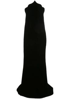 Oscar de la Renta scalloped velvet gown