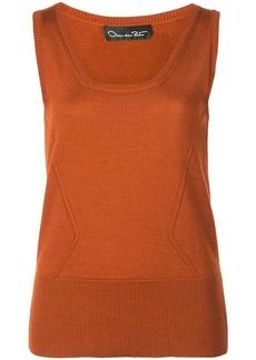 Oscar de la Renta scoop neck knit top