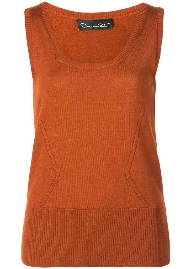 Oscar de la Renta knit tank top