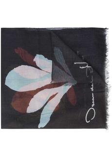 Oscar de la Renta seaweed print scarf