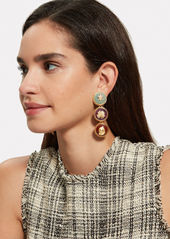 Oscar de la Renta Semi Precious Disk Earrings