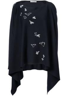 Oscar de la Renta sequin-embroidered draped jumper