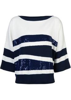 Oscar de la Renta sequin embroidered sweater