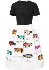Oscar de la Renta sequined fish-print full skirt