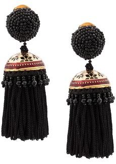 Oscar de la Renta short beaded drop earrings