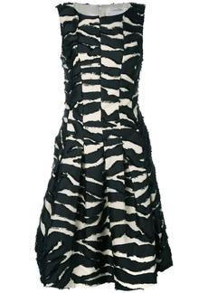 Oscar de la Renta shredded panel cocktail dress