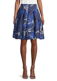 Oscar de la Renta Silk & Cotton Printed Skirt