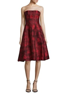 Oscar de la Renta Silk Fit-&-Flare Dress