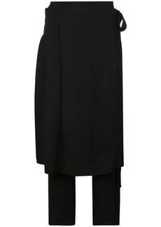 Oscar de la Renta skirt layer trousers
