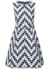 Oscar de la Renta sleeveless jacquard dress