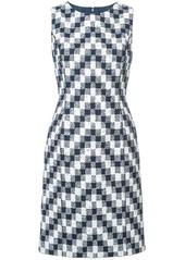 Oscar de la Renta sleeveless jacquard pencil dress
