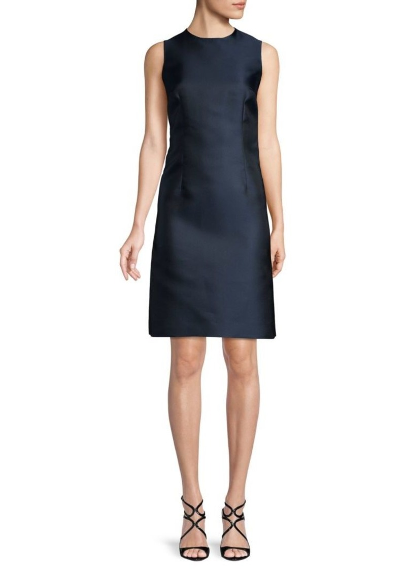 Oscar de la Renta Sleeveless Jewelneck Sheath Dress