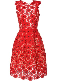 Oscar de la Renta sleeveless lace midi dress