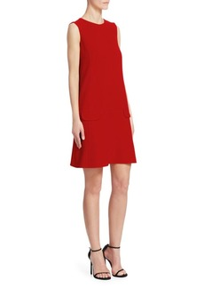 Oscar de la Renta Sleeveless Wool Shift Dress