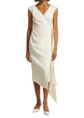 Oscar de la Renta Sleeveless Wrap Dress
