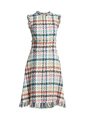 Oscar de la Renta Spring Tweed Fringe Day Dress