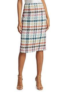 Oscar de la Renta Spring Tweed Pencil Skirt